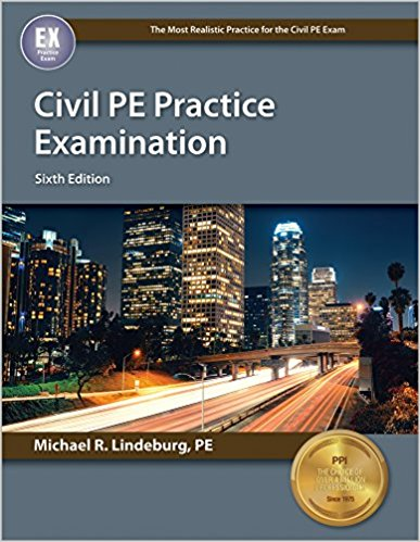 Civil PE Practice Examination-6th ed.-Michael R. Lindeburg, PE