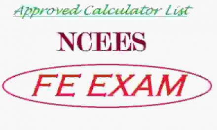Approved Calculator List of NCEES FE Exam