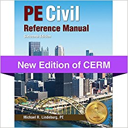 Get a Copy of PE Civil Reference Manual-16th ed.