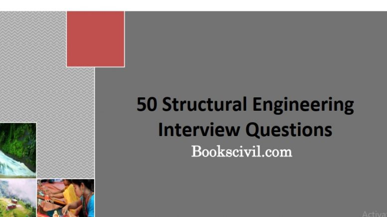 structural engineering interview questions