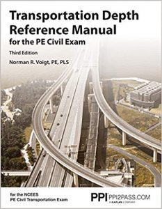 transportation depth reference manual for pe civil exam